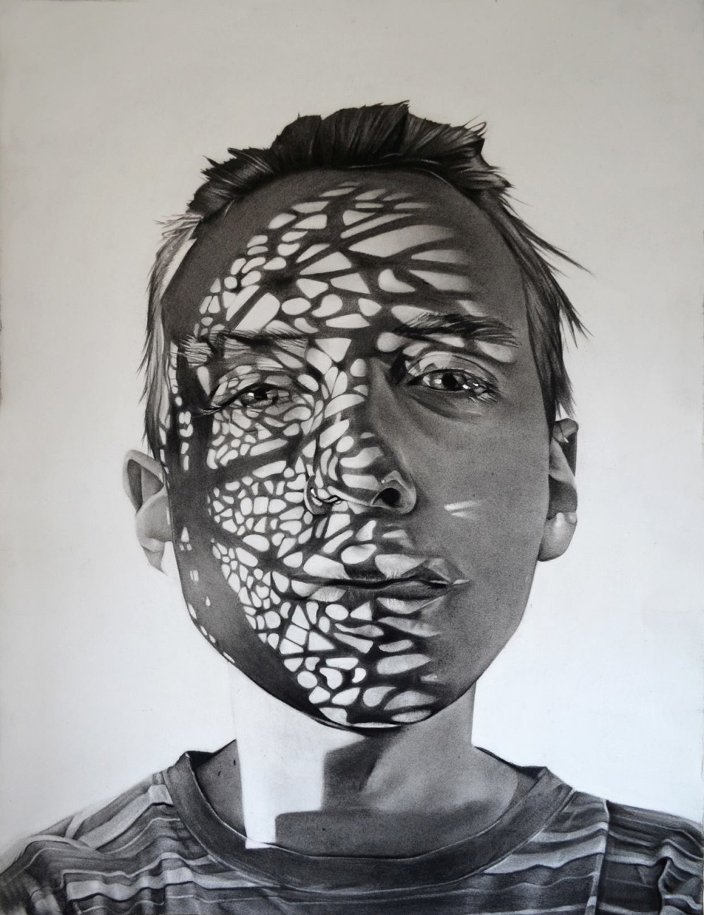 Shadowy Charcoal Portraits By Dylan Andrews -- A Drawing
