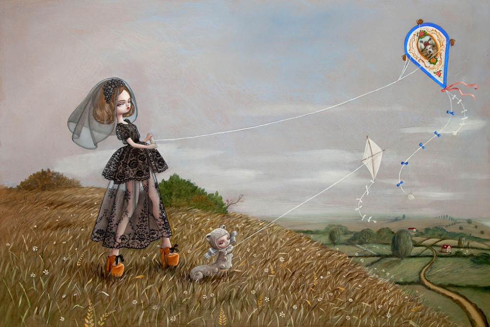 Nataly Kukula Abramovitch_Painting_The kites Maker