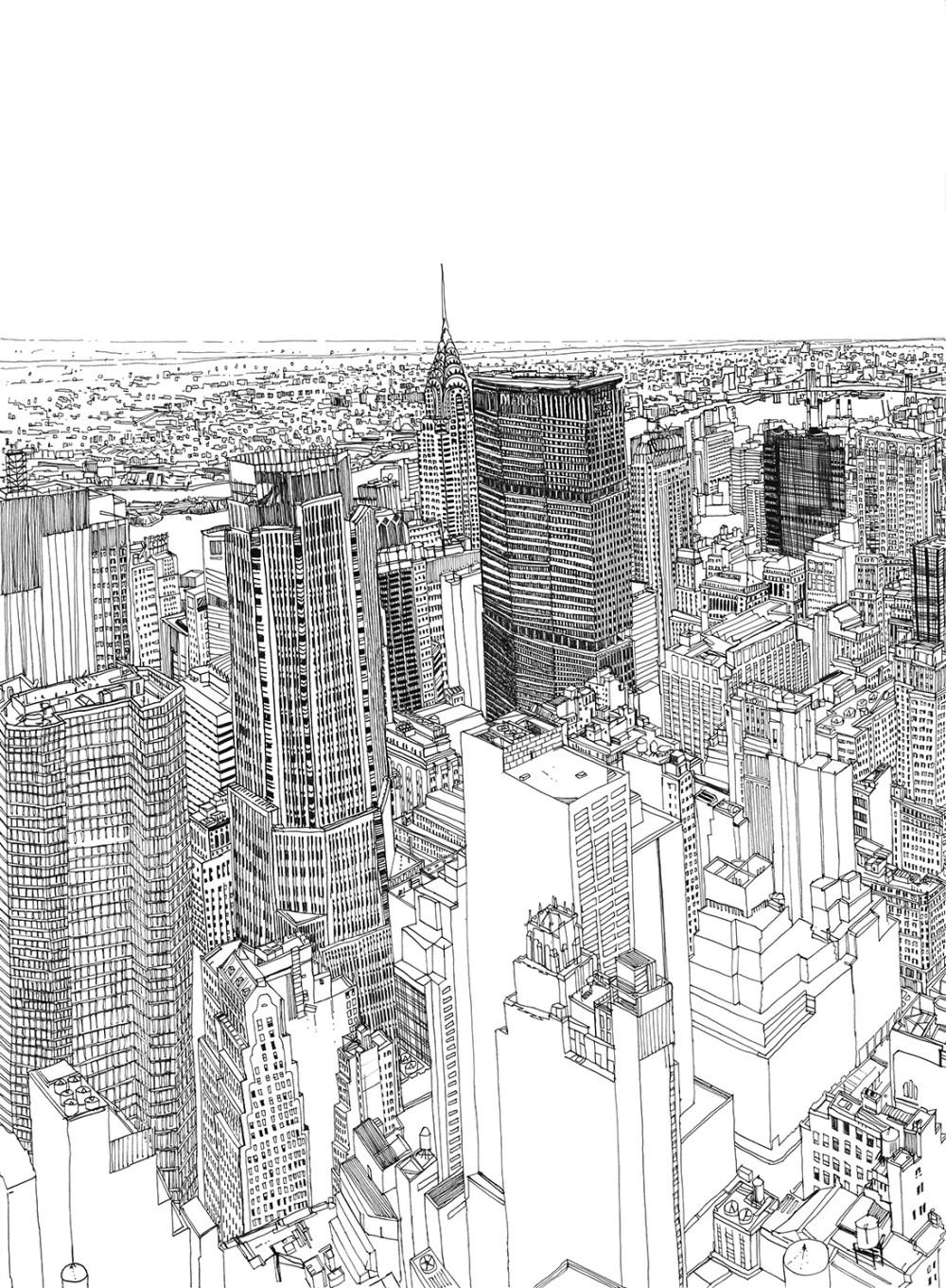 Patrick-Vale-Drawing-New-York-Skyline-123abc