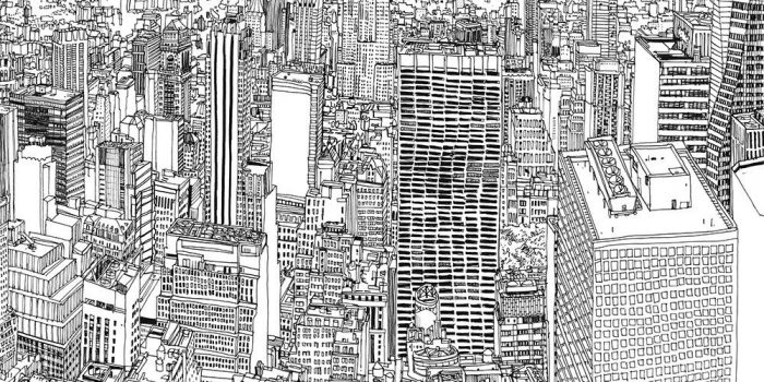 Patrick Vale Drawing New York Skyline 123def
