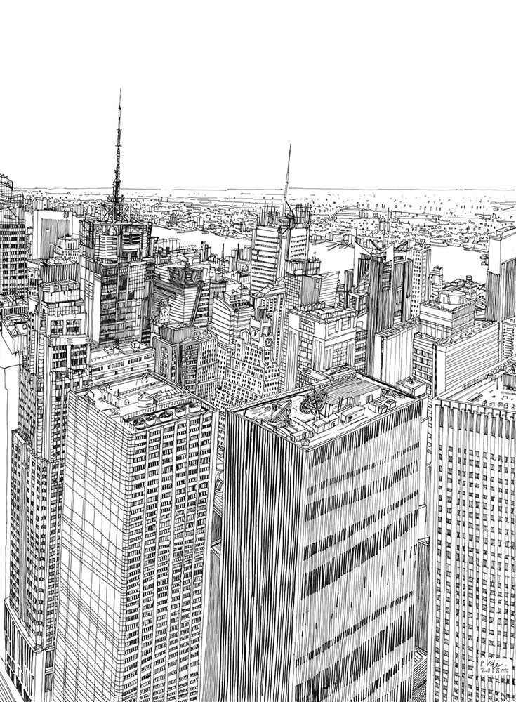 Patrick-Vale-Drawing-New-York-Skyline-123ghi