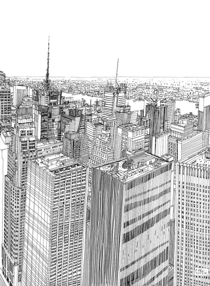 Patrick-Vale-Drawing-New-York-Skyline-123ghi