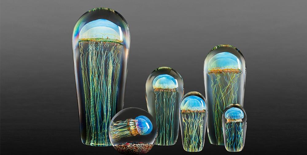 Rick Satava Glass Blown Jellyfish 158jsdr