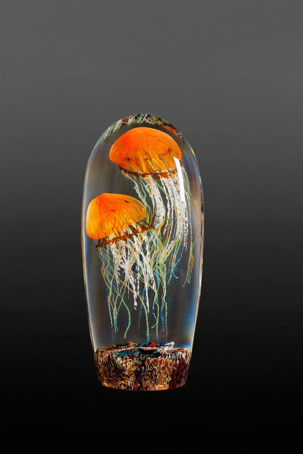Rick Satava Glass Blown Jellyfish 581okj