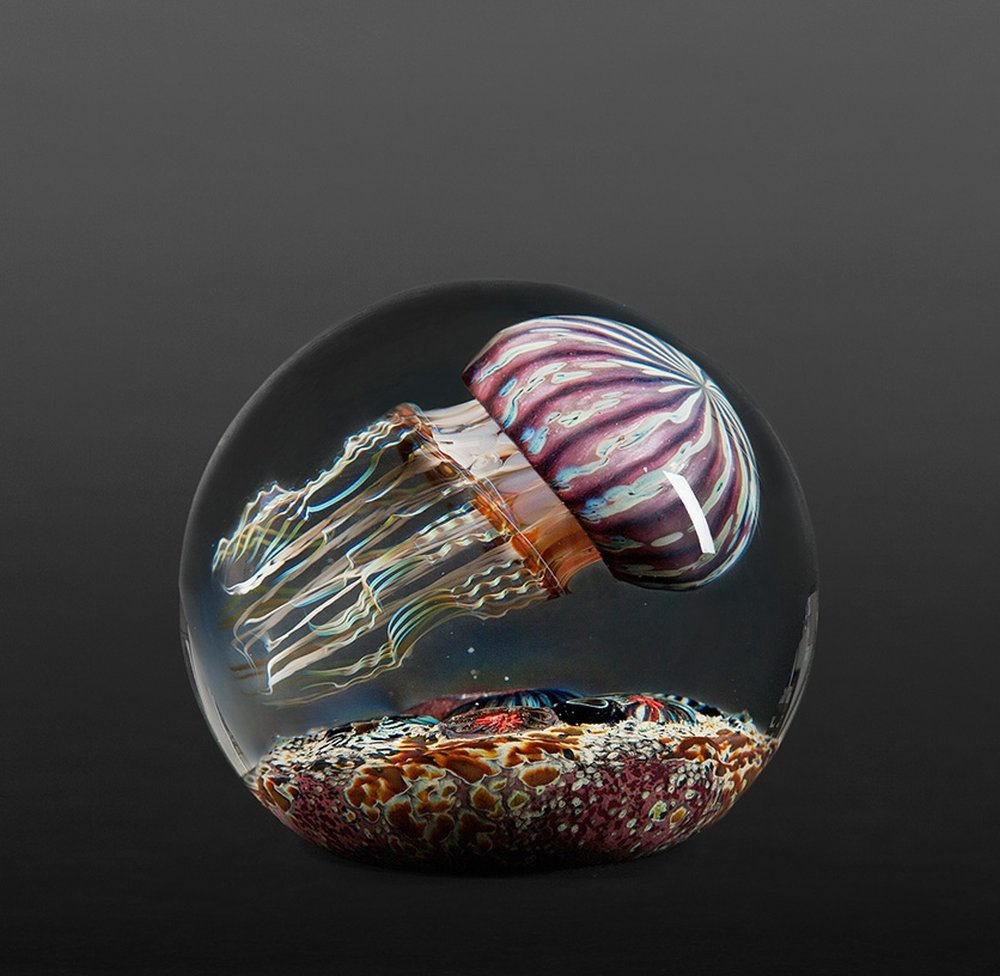 Rick Satava Glass Blown Jellyfish 817yse