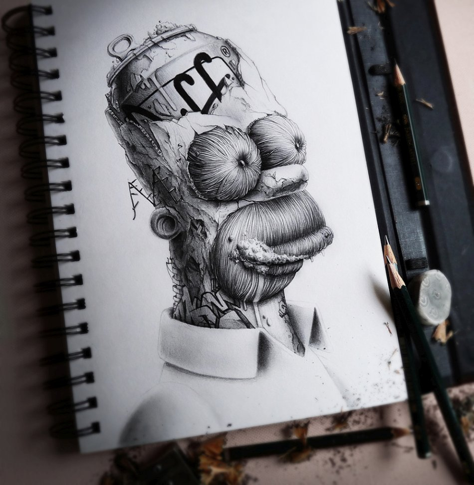 French Pez Pencil Drawings -doh