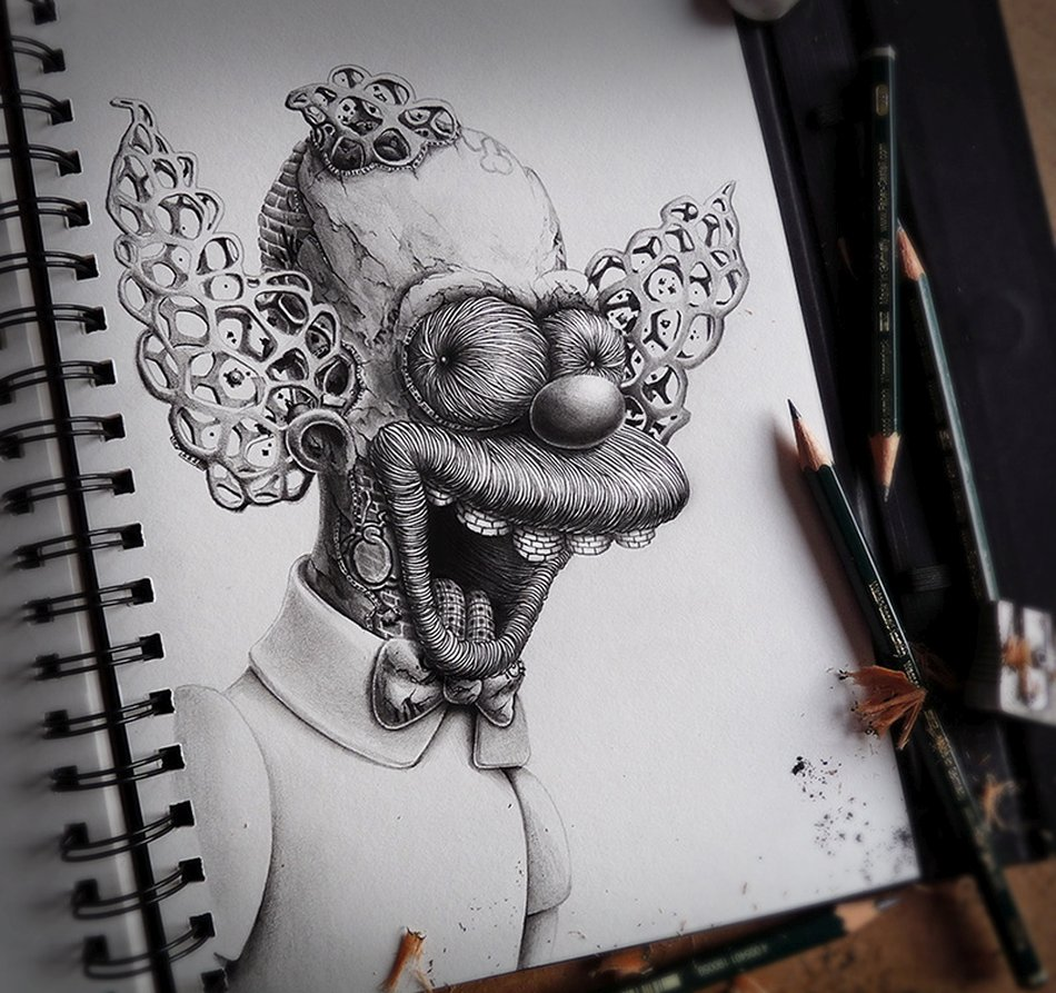French pez pencil drawings krusty crab
