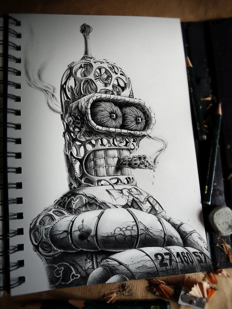 French Pez Pencil Drawings -patrick