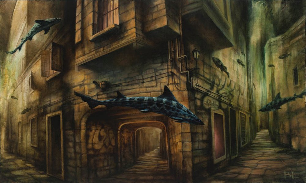 Brin Levinson Paintings -Deep Streets