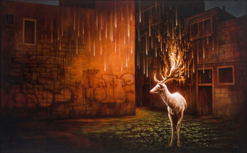 Brin Levinson Paintings - The White Stag