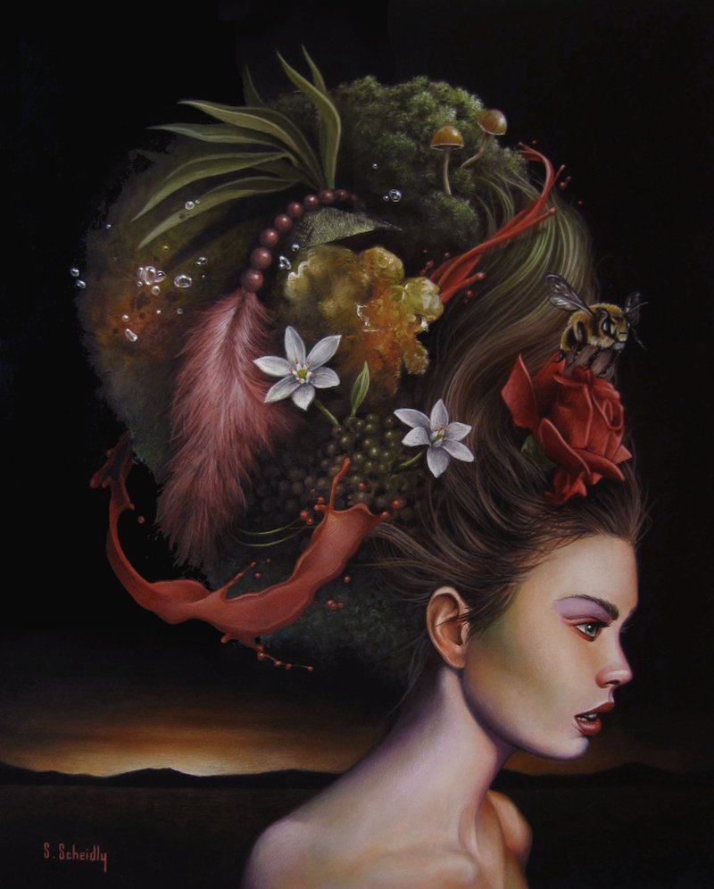 Scott Scheidly Paintings_Mrs. Nature