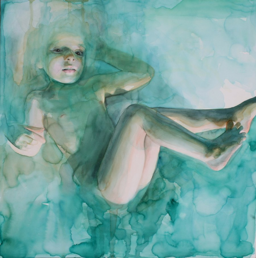 Ali Cavanaugh_Watercolor Portraits-completely-submerged