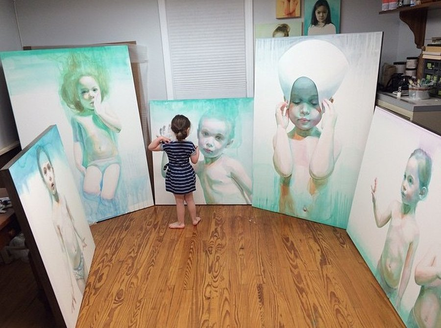 Ali Cavanaugh_Watercolor Portraits-studio