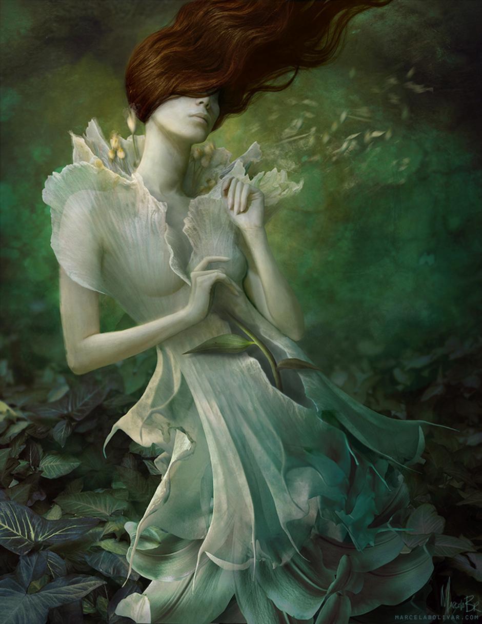 Marcela Bolivar photo illustrations_flowerdress1