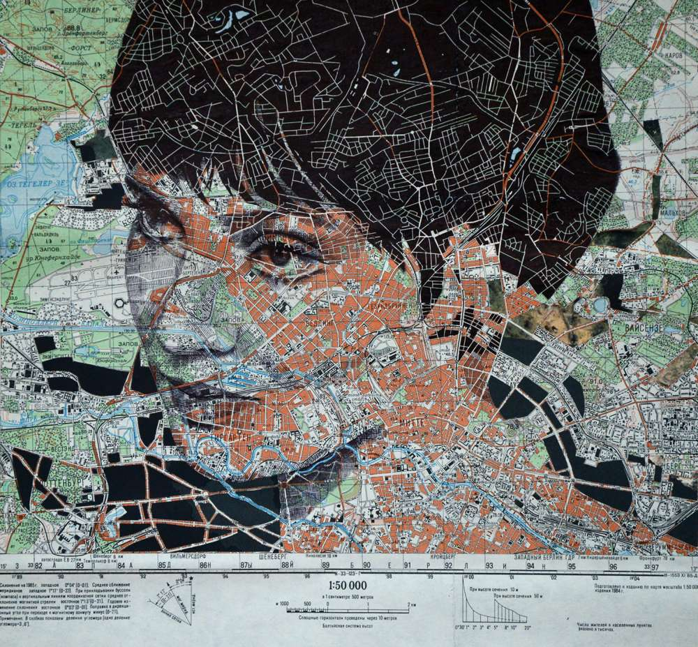 Ed Fairburn Map Portraits - Anna Karina