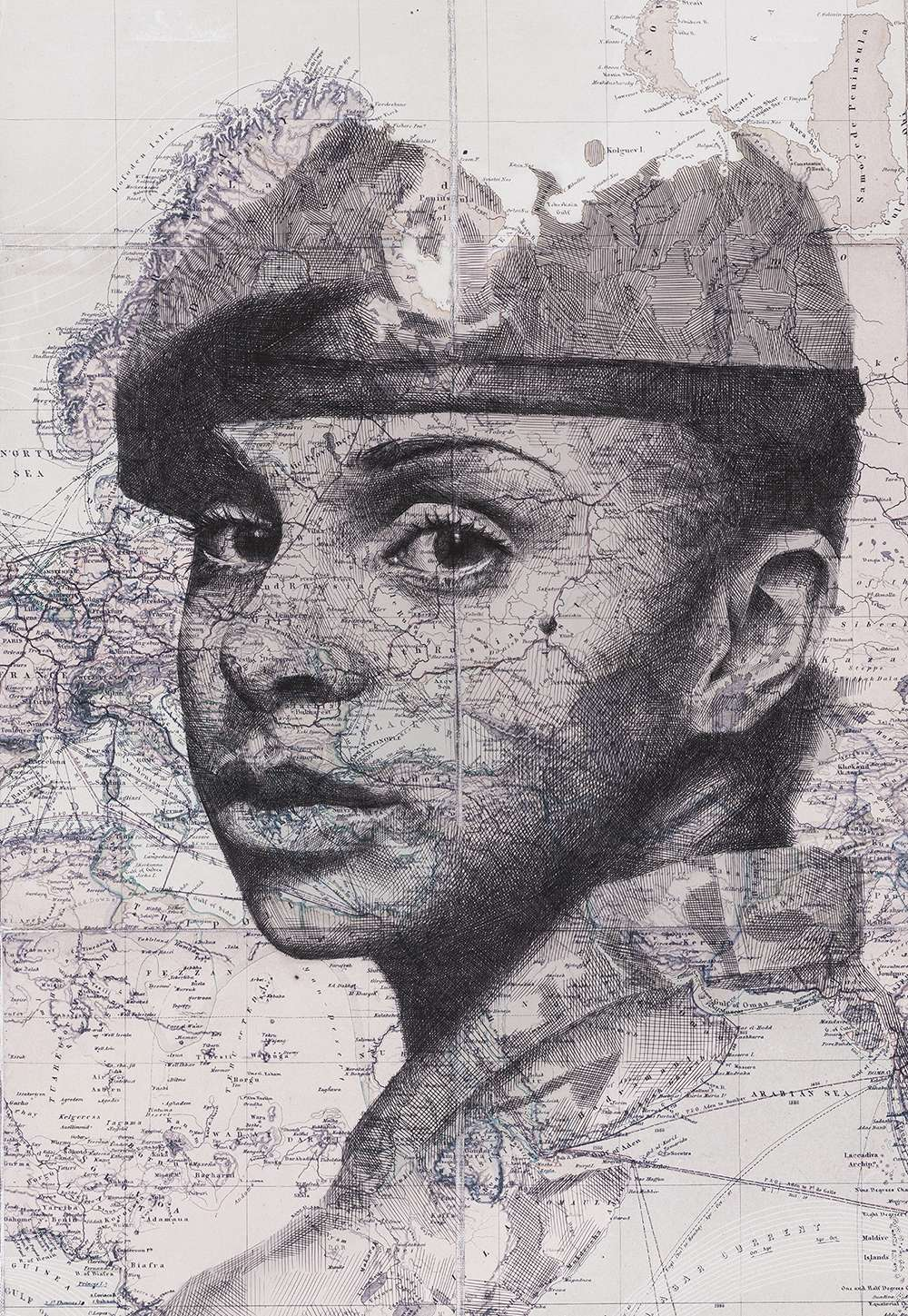 Ed Fairburn Map Portraits - British Army