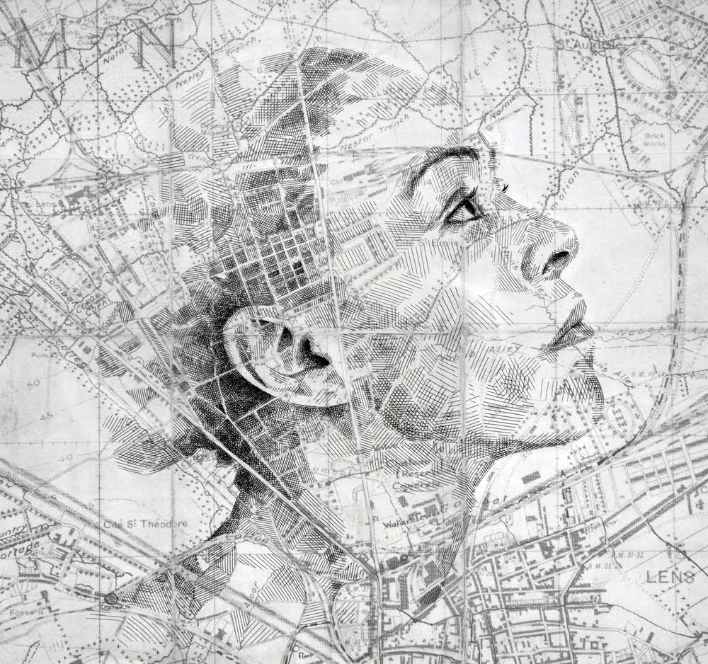 Ed Fairburn Map Portraits - Chester Street
