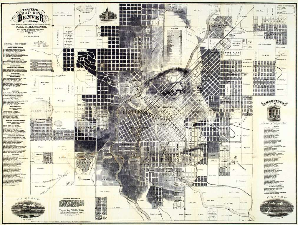 Ed Fairburn Map Portraits - Denver