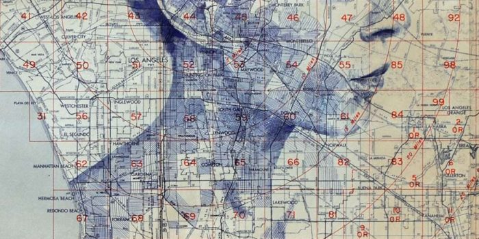 Ed Fairburn Map Portraits – Los Angeles Westbound