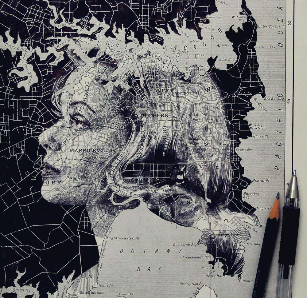 Ed Fairburn Map Portraits - Sydney