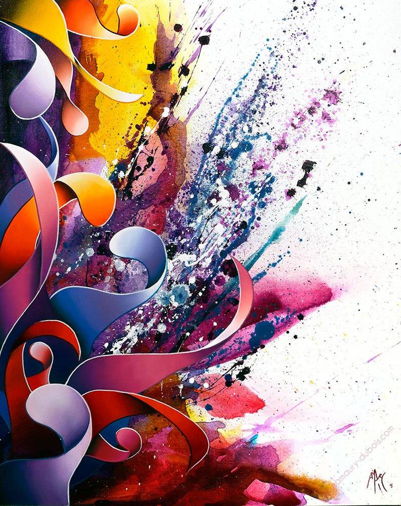 Amaury Dubois Abstract Painting_violet