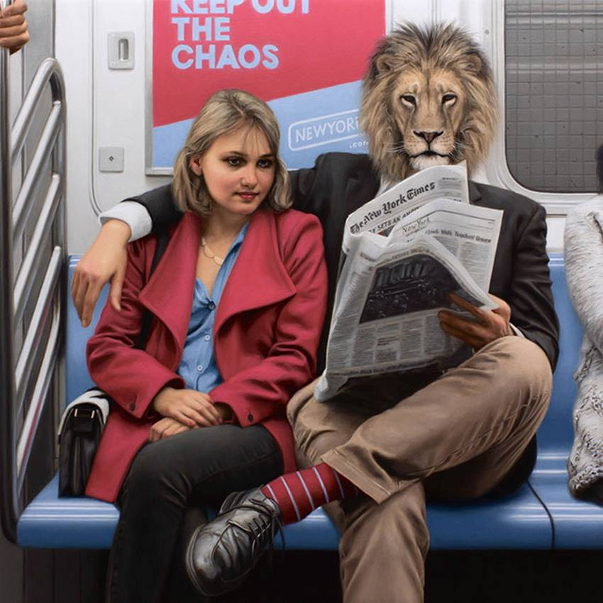 Matthew Grabelsky Paintings - Subway 458poi