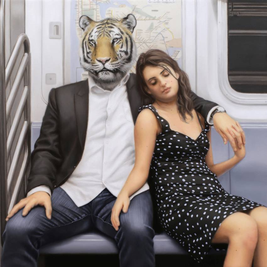 Matthew Grabelsky Paintings - Subway 584lpi