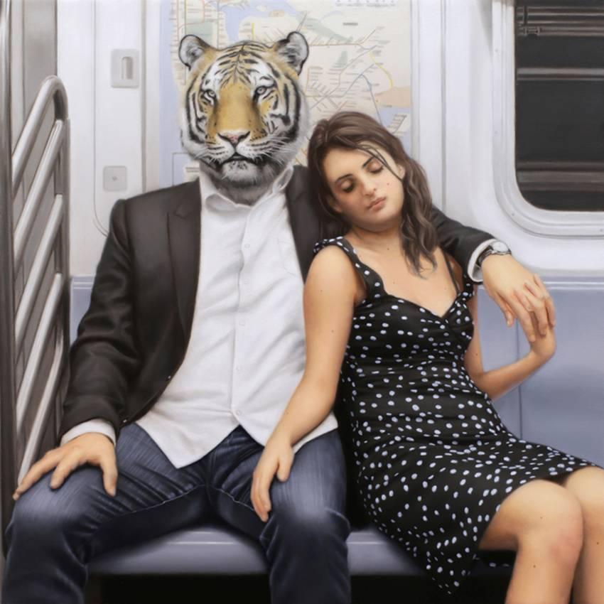 Matthew Grabelsky Paintings - Subway 584lpi