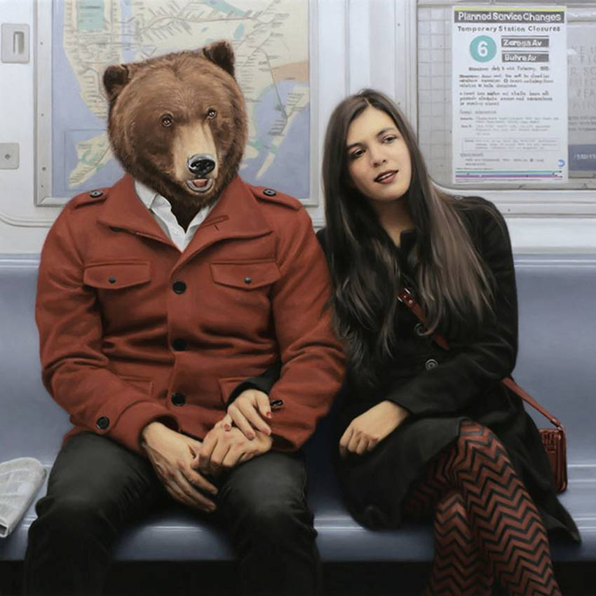 Matthew Grabelsky Paintings - Subway 847lkju
