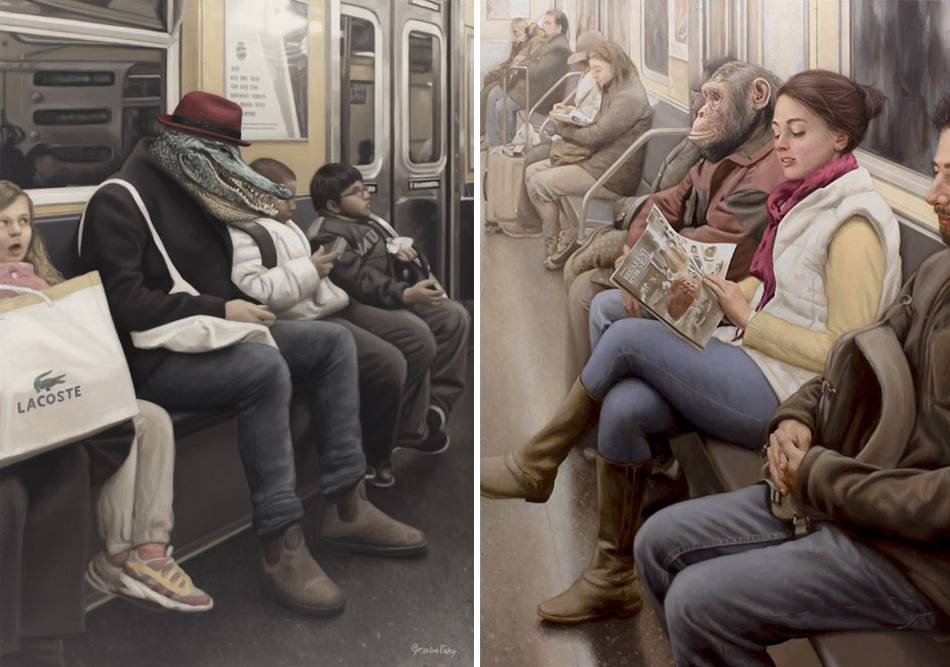 Matthew Grabelsky Paintings - Subway 9-774pou