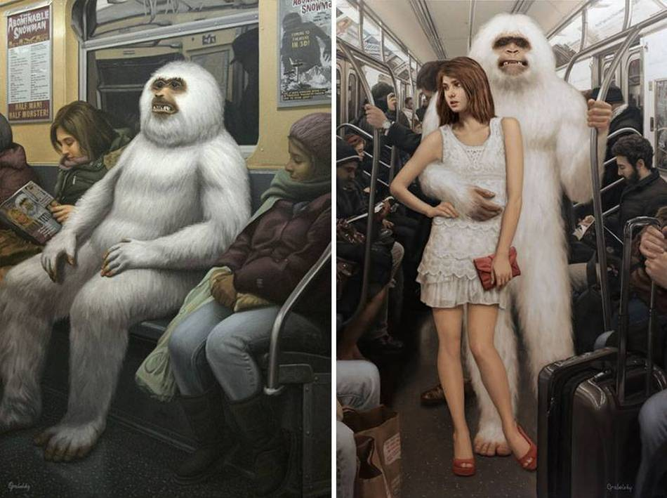 Matthew Grabelsky Paintings - Subway 9-874kuy