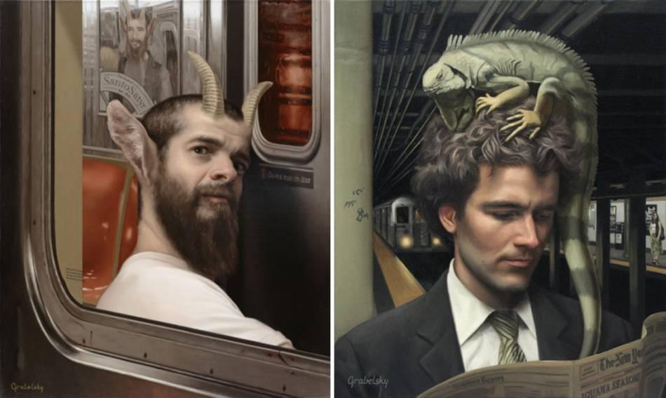 Matthew Grabelsky Paintings - Subway 9-895kuj