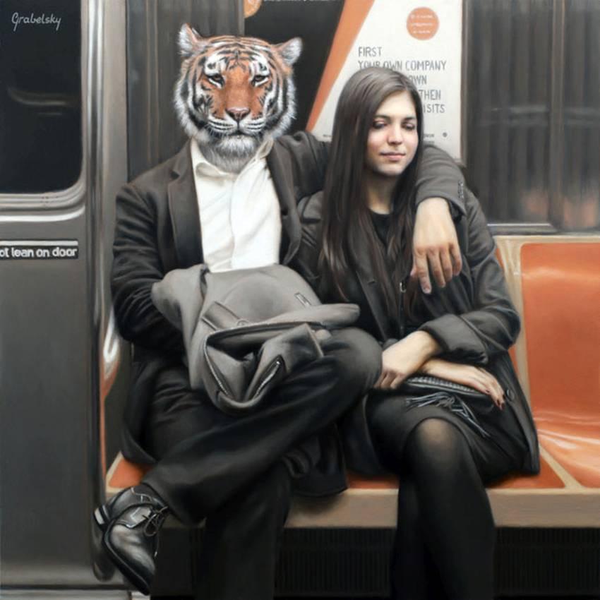 Matthew Grabelsky Paintings - Subway 974poi