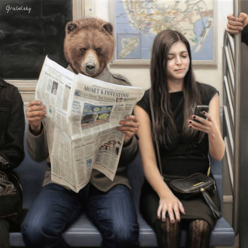 Matthew Grabelsky Paintings - Subway 987grf