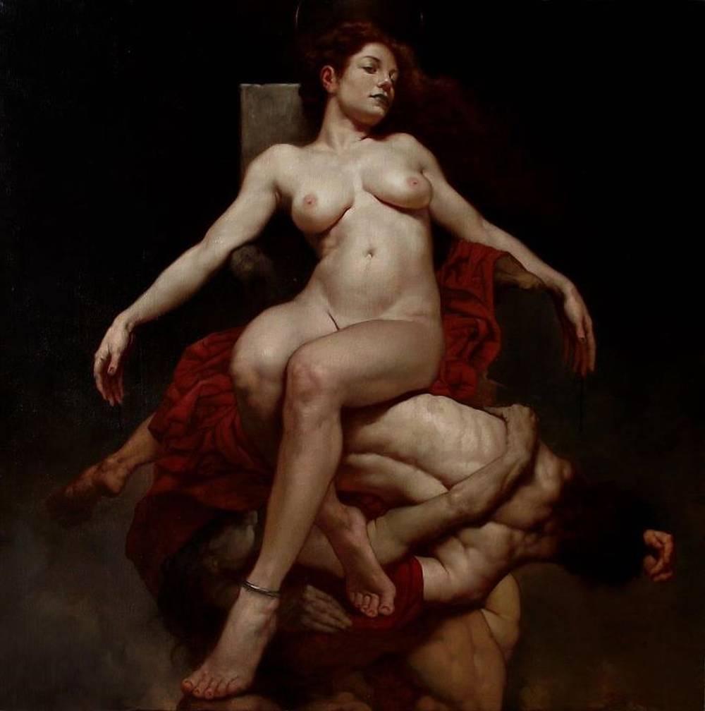 Roberto Ferri Paintings_ERICTO OLIO SU TELA 80 X 80 CM