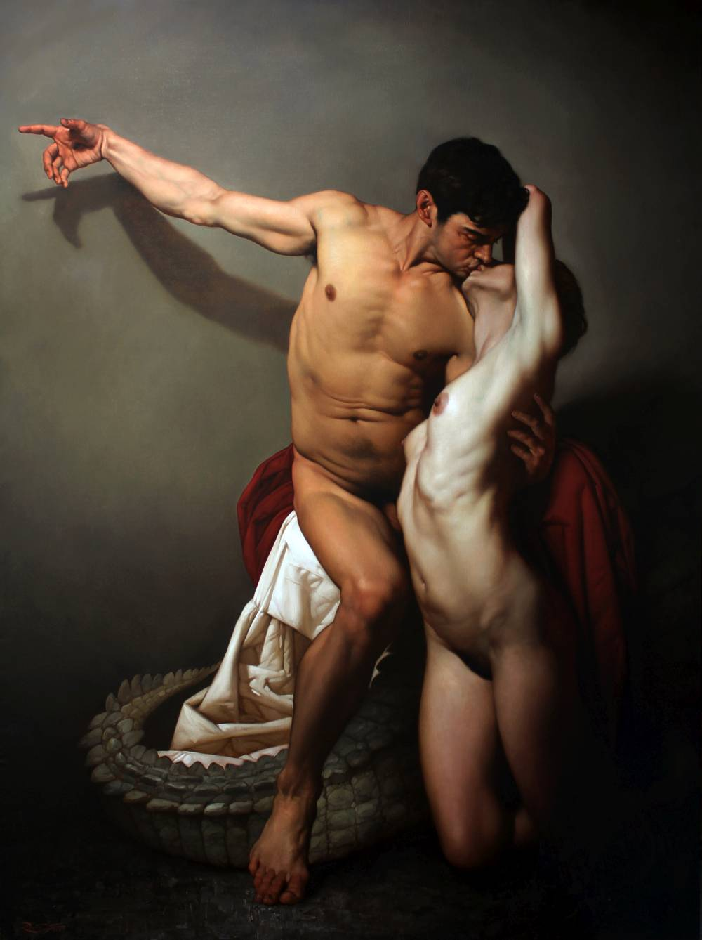 Roberto Ferri Paintings_IL BACIO - THE KISS olio su tela 200 x 150 cm anno 2015