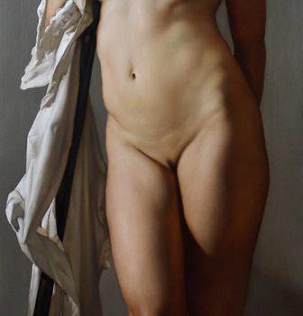 Roberto Ferri Paintings IL SOGNO DI SANTA EULALIA Olio E Foglia Oro Su Legno Di Castagno (2015)