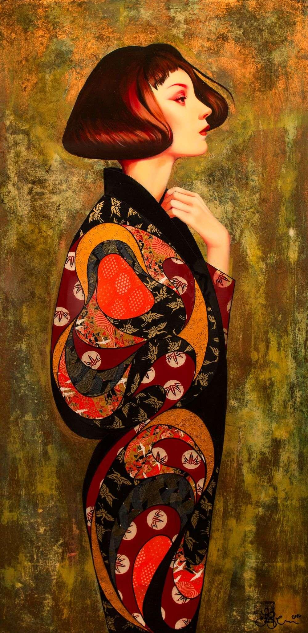 Lauren Brevner Painting Iris
