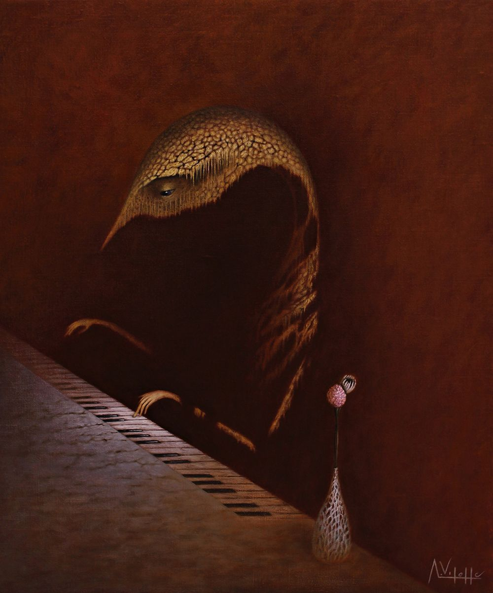 August Vilella Paintings - Pianist