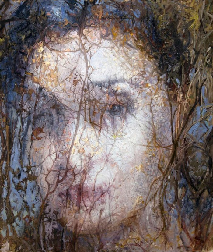 Alyssa Monks' Oil Painting Series — A Beautiful Fusion Of Woman's Portrait And The Forest