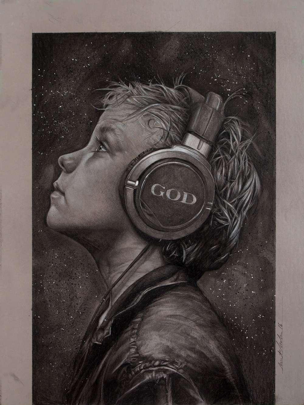 Brent Schreiber Paintings Drawings_Listen_147825