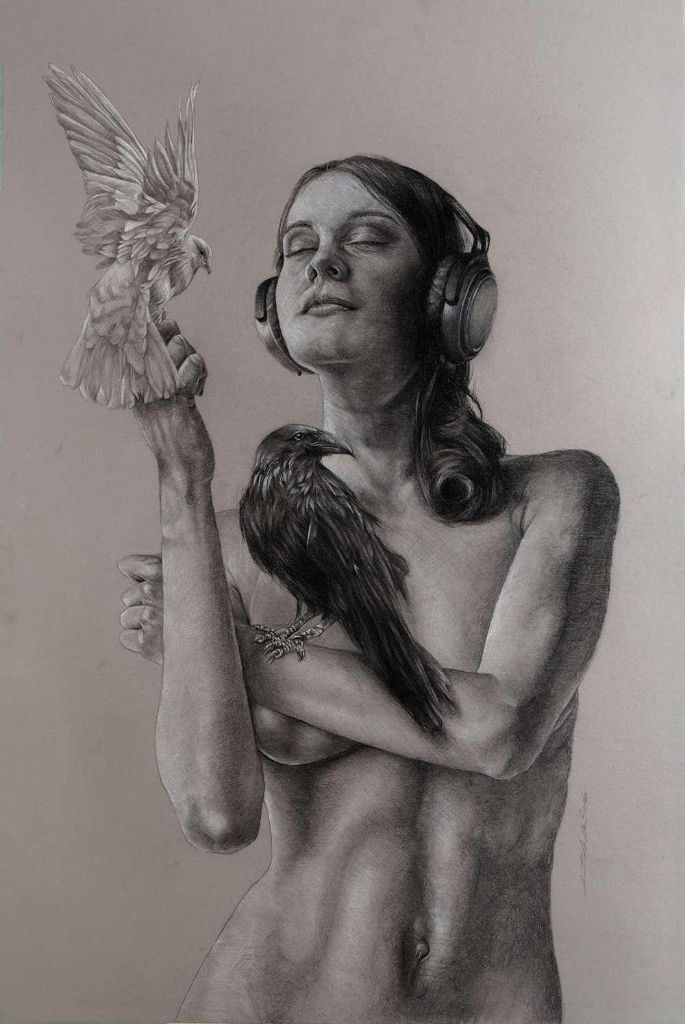 Brent Schreiber Paintings Drawings_Listen_154485