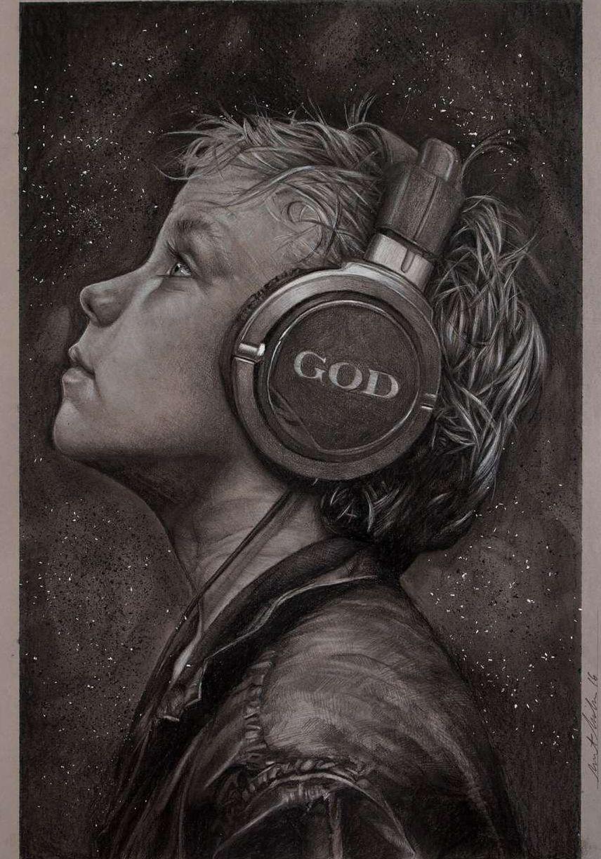 Brent Schreiber Paintings Drawings Listen Feature