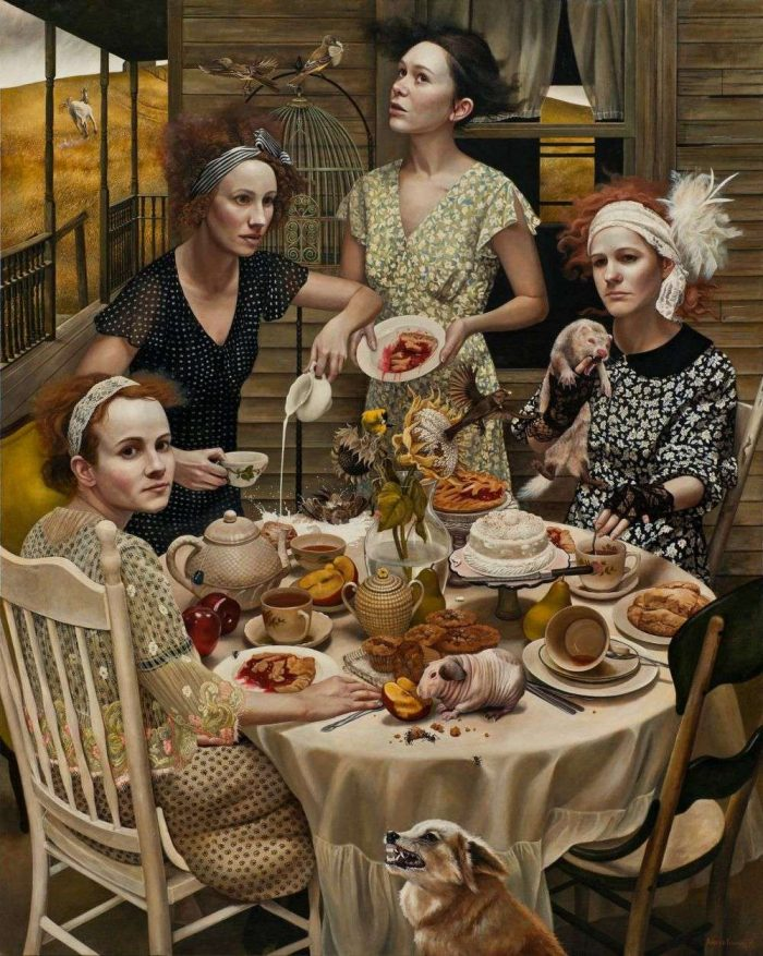 The Beautiful Paintings Of Andrea Kowch — A Series Of Surreal, Dreamlike Scenes In The Vast, Desolate Landscapes