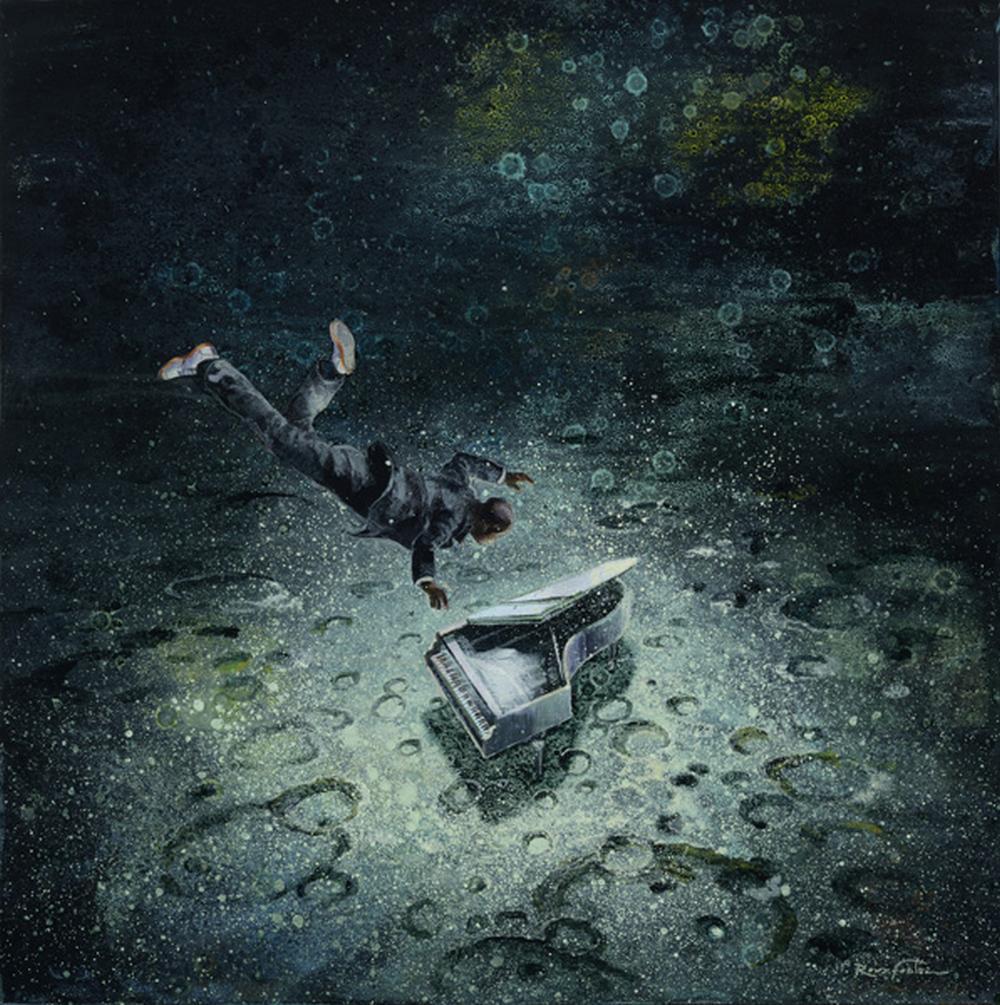 Eric Roux-Fontaine Paintings-La-note-bleu