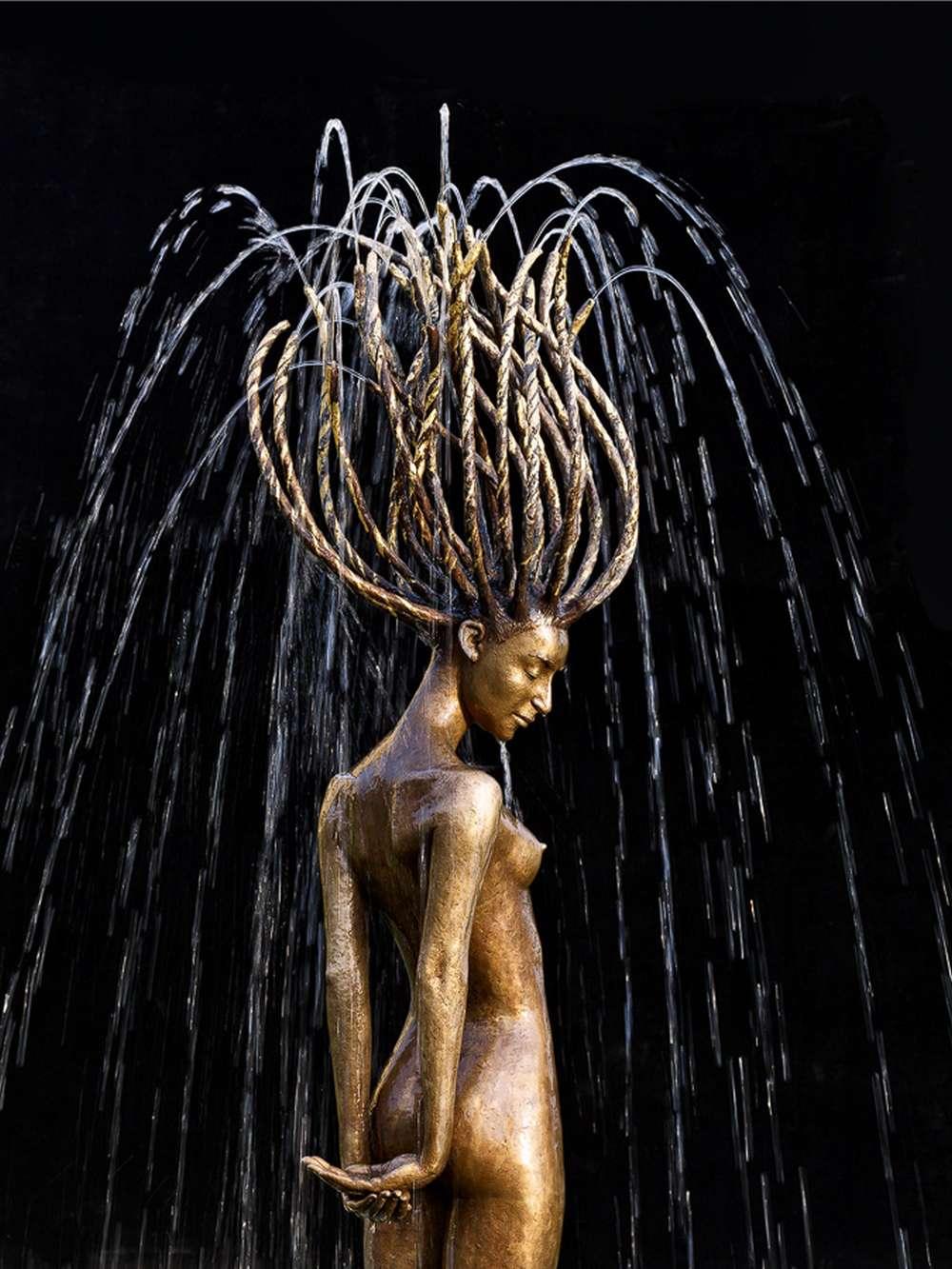 Brunnen, Skulptur, Plastik aus Bronze von Malgorzata Chodakowska