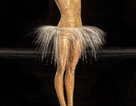 Kleine Ballerina, Brunnen, Springbrunnen, Skulptur, Plastik Aus Bronze Von Malgorzata Chodakowska