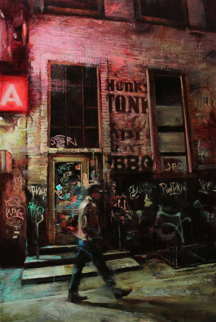 Lindsey Kustusch Painting Series — A Beautiful & Dramatic Composition Of Dark, Chaotic Urban Landscapes