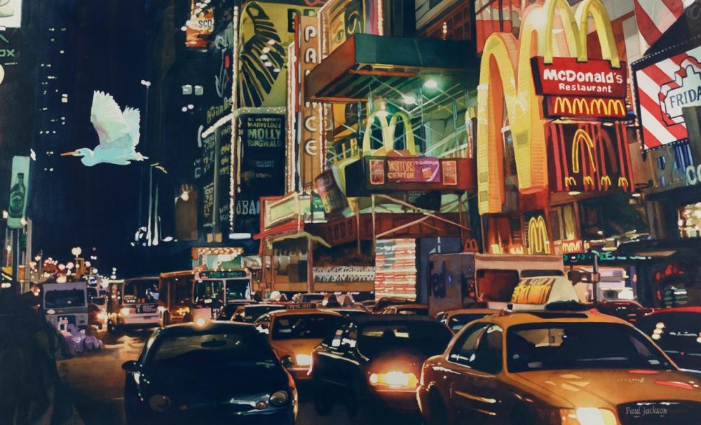 paul-jackson-watercolor-painting_crosstown-traffic