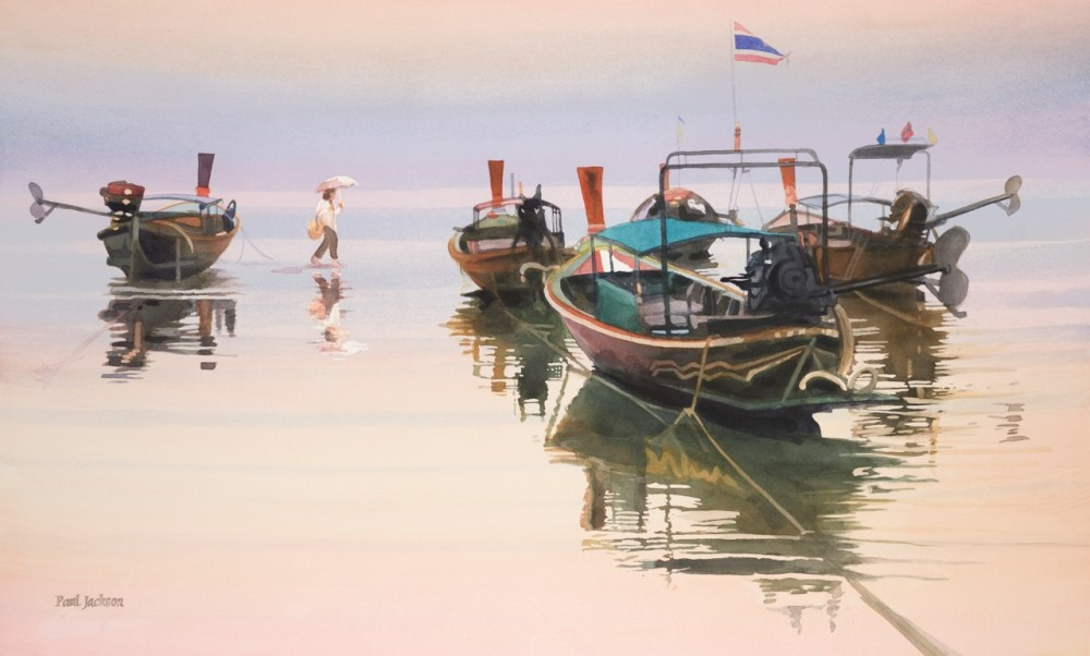 paul-jackson-watercolor_sea-gypsies-of-ko-phi-phi